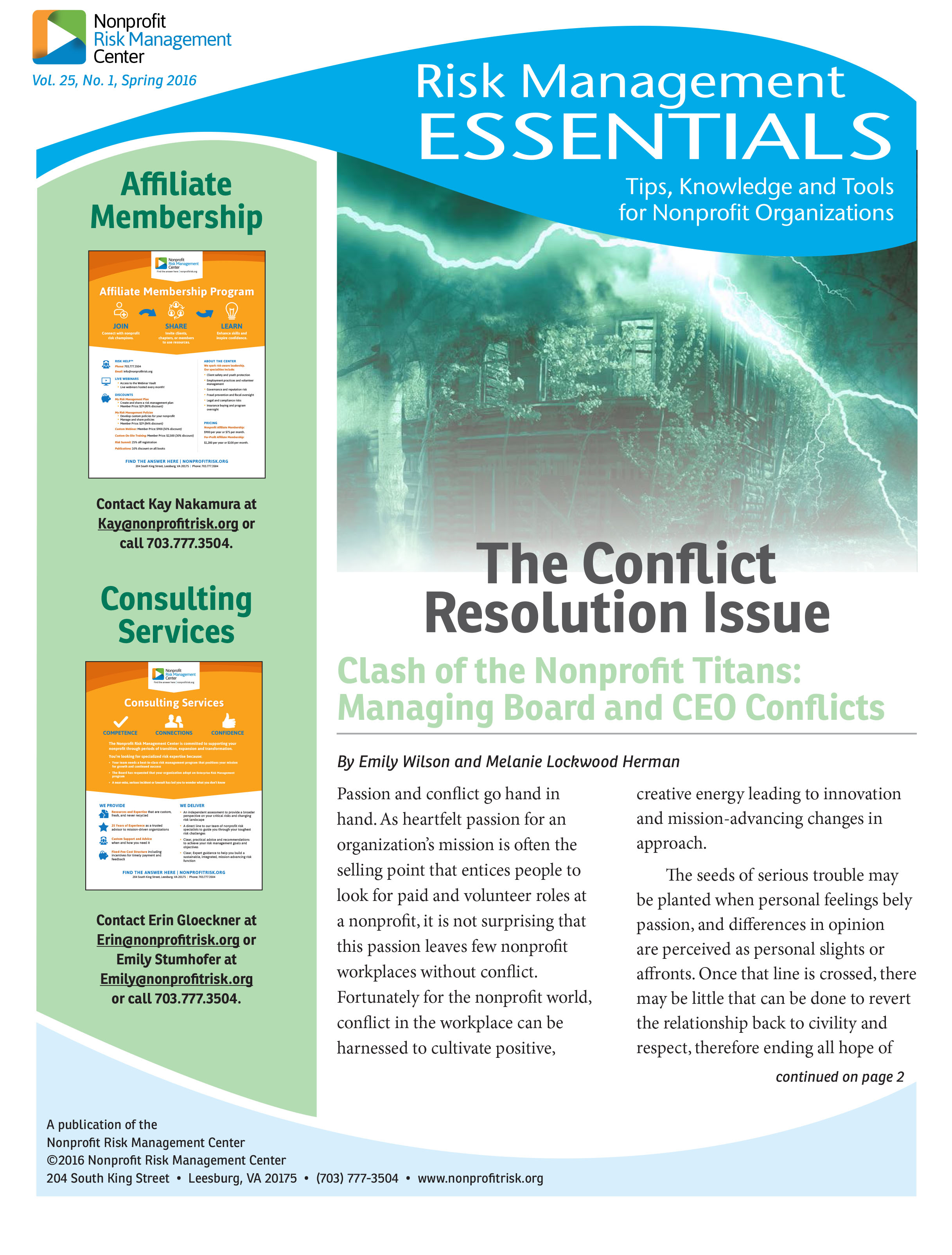 The Conflict Resolution Issue – Nonprofit Risk Management Center
