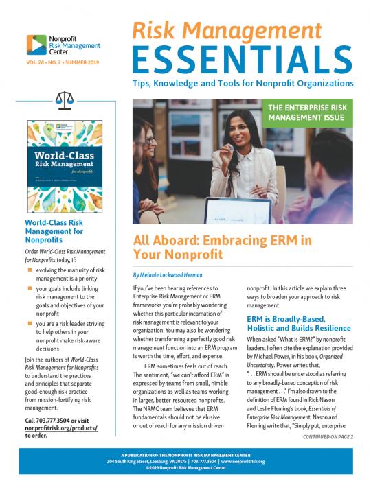 Risk Management Essentials Archives – Nonprofit Risk