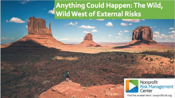 Anything Could Happen: Wild, Wild West of External Risk