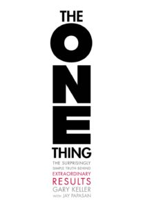 "Book cover of ""The One Thing"""